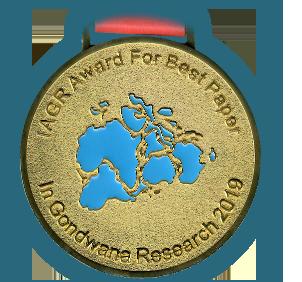 Медаль за лучшую статью в Gondwana Research 2019 г.